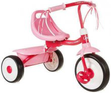 triciclo plegable rosa radio flyer