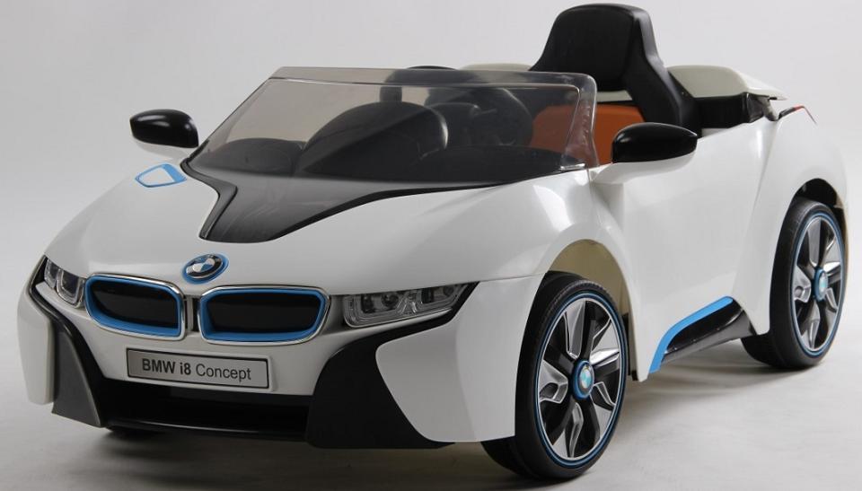 Coche Bmw I8 Concept Para Ni 209 Os 12v 1p Blanco